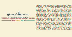Cartel oficial del Corona Capital 2012