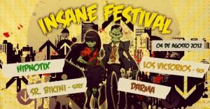 Insane Festival este 4 de Agosto @ Arena Chihuahua