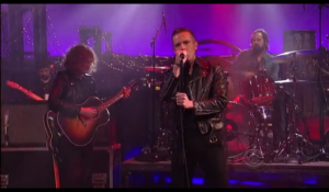 "The Killers tocando en vivo en ""Late Show with David Letterman"""