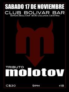 Tributo a Molotov este Sábado 17 de Noviembre @ Club Bolívar