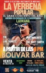 La Verbena Popular este Sábado 20 de Octubre @ Club Bolívar