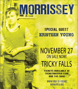 Morrissey este Martes 27 de Noviembre @ Tricky Falls (El Paso, TX)