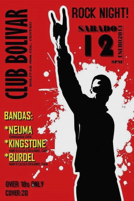 Rock Night! este sábado 12 de enero @ Club Bolívar