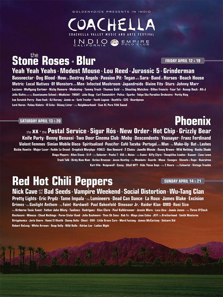 Cartel oficial y definitivo del Coachella 2013