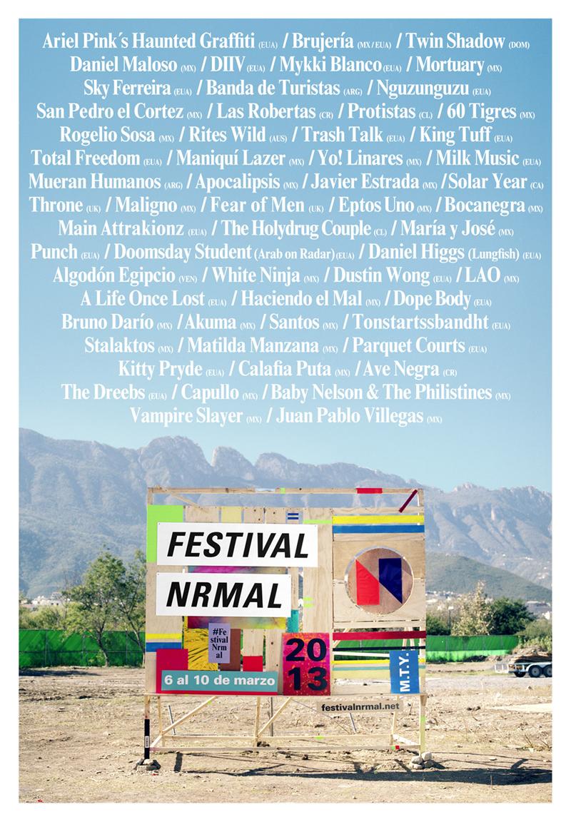 Cartel del Festival Nrmal 2013