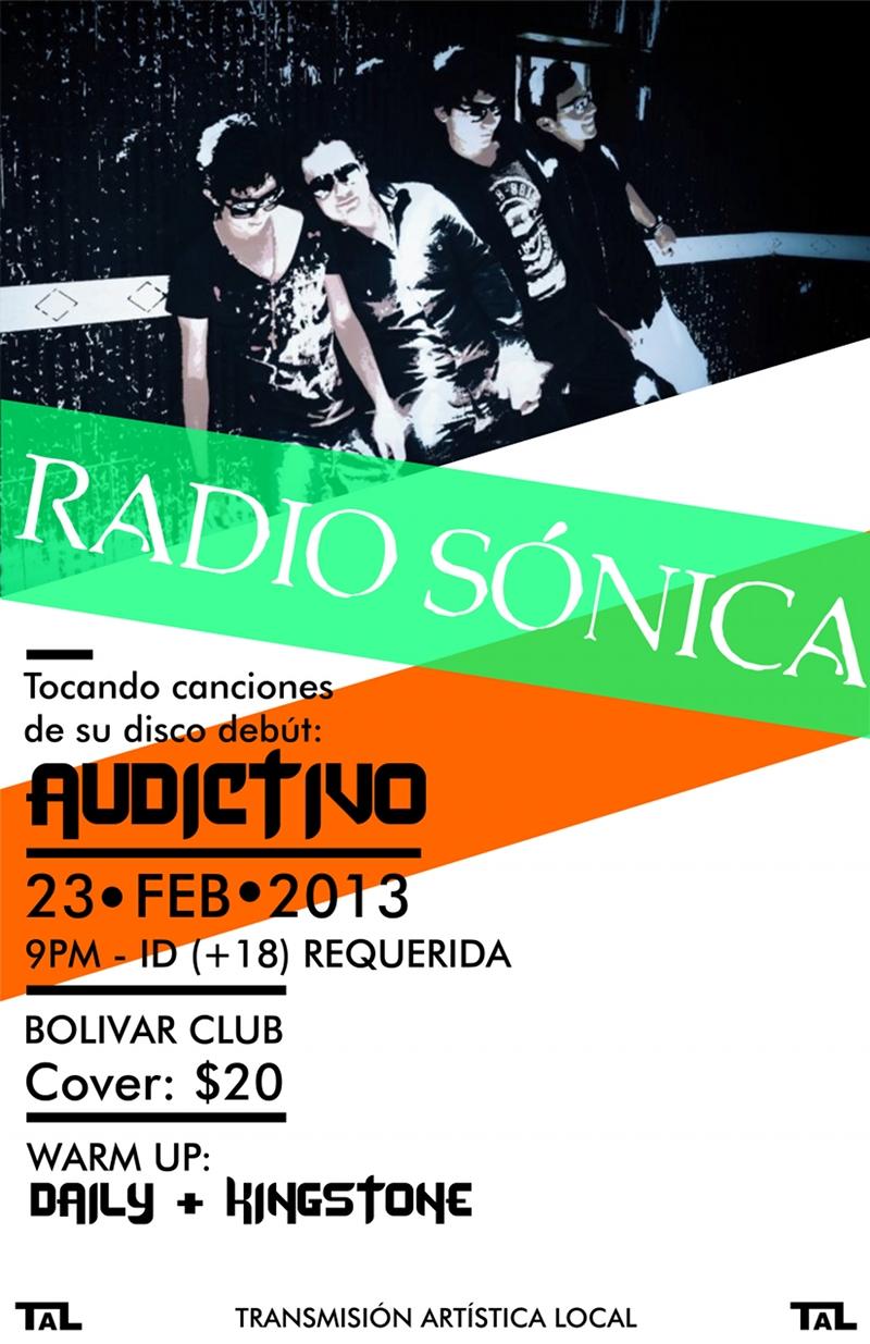 Radio Sónica, Daily y Kingstone este sábado 23 de febrero @ Club Bolívar