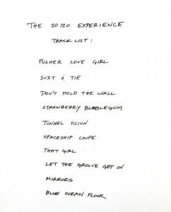 """Arte de """"The 20/20 Experience"""""""