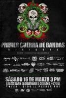 Flyer de la Primer Guerra de Bandas MexiCore 2013