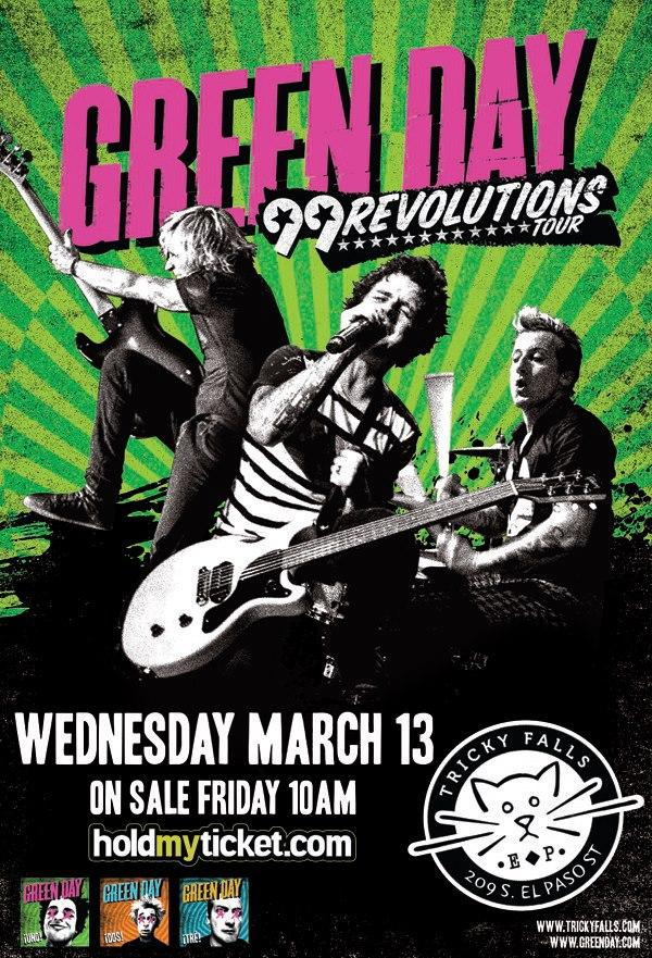 Green Day este miércoles 13 de marzo @ Tricky Falls