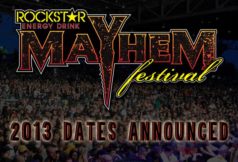 Anuncian las fechas del Rockstar Mayhem Festival 2013
