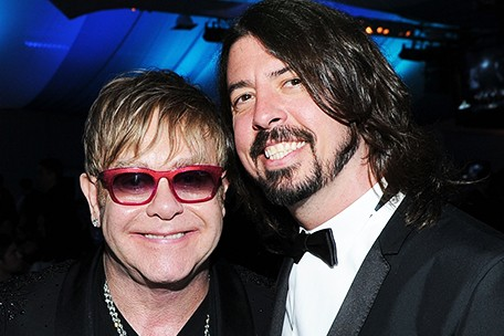 Foto: Elton John con Dave Grohl