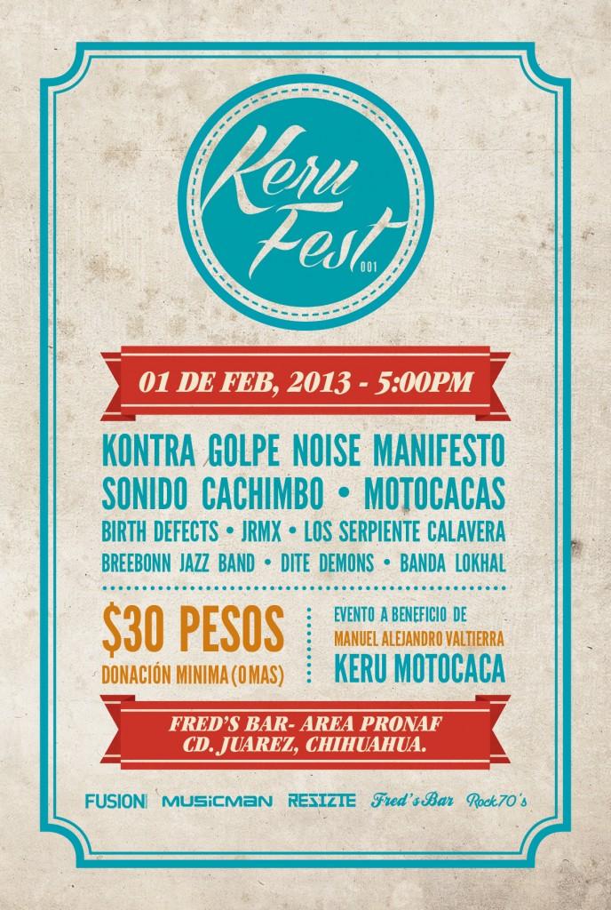 Keru Fest este viernes 1 de febrero @ Fred's Bar (Cd. Juárez)