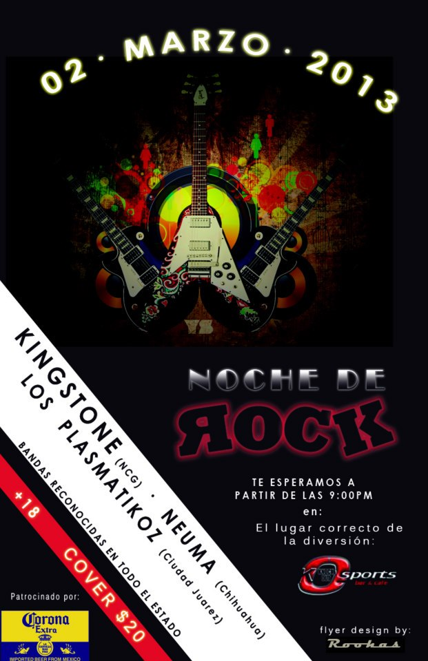 Rock en Nuevo Casas Grandes, Chih. este sábado 2 de marzo