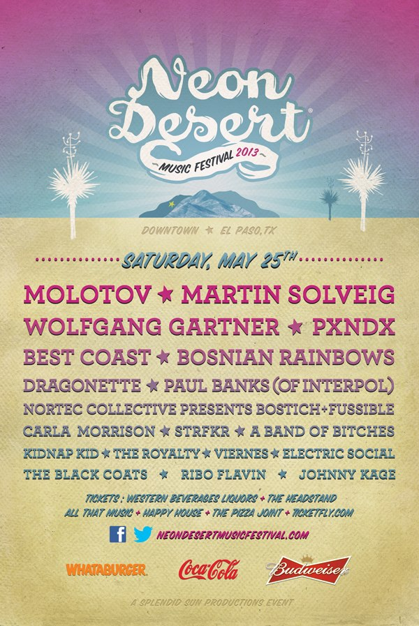 Cartel del Neon Desert Music Festival 2013