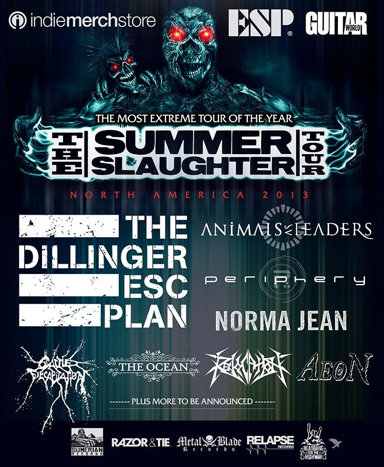 Póster del Summer Slaughter Tour 2013