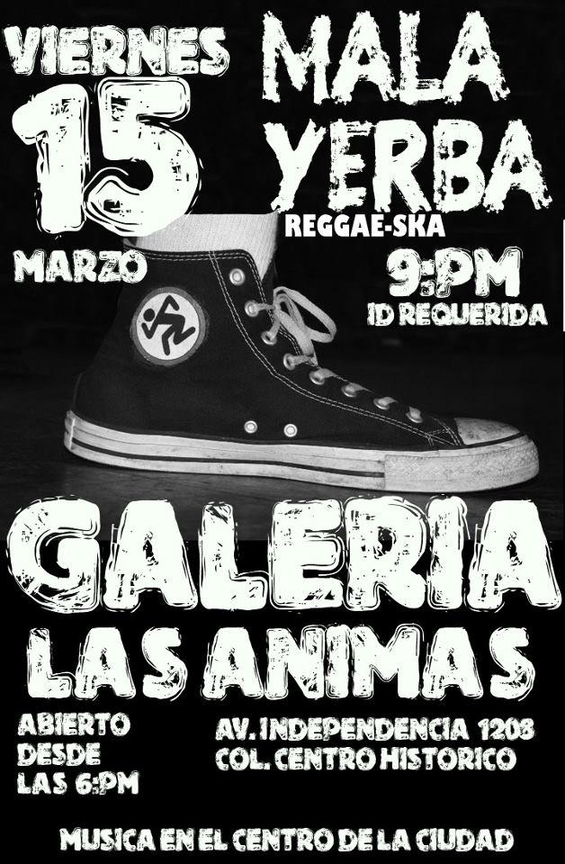 Malayerba este viernes 15 de marzo @ Galería Las Ánimas