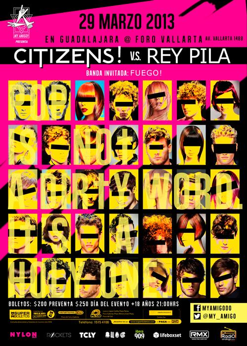 CITIZENS! este viernes 29 de marzo @ Foro Vallarta (Guadalajara, Jal.)
