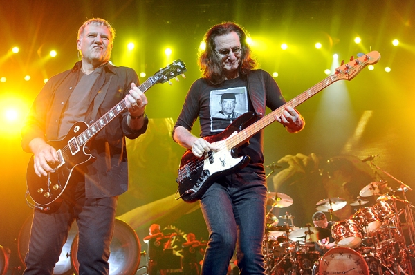 Alex Lifeson y Geddy Lee de Rush