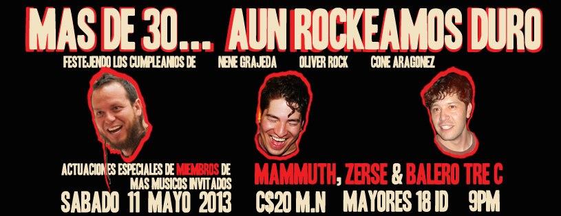"""""""Más de 30... Aún rockeamos duro"""" este sábado 11 de mayo @ Club Bolívar"""