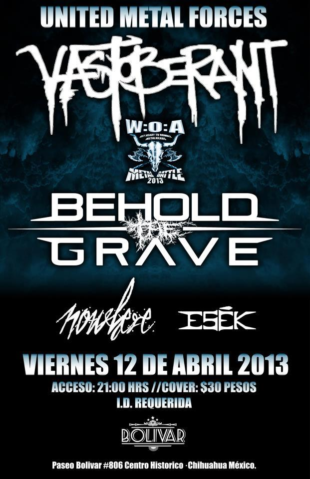 United Metal Forces este viernes 12 de abril @ Club Bolívar