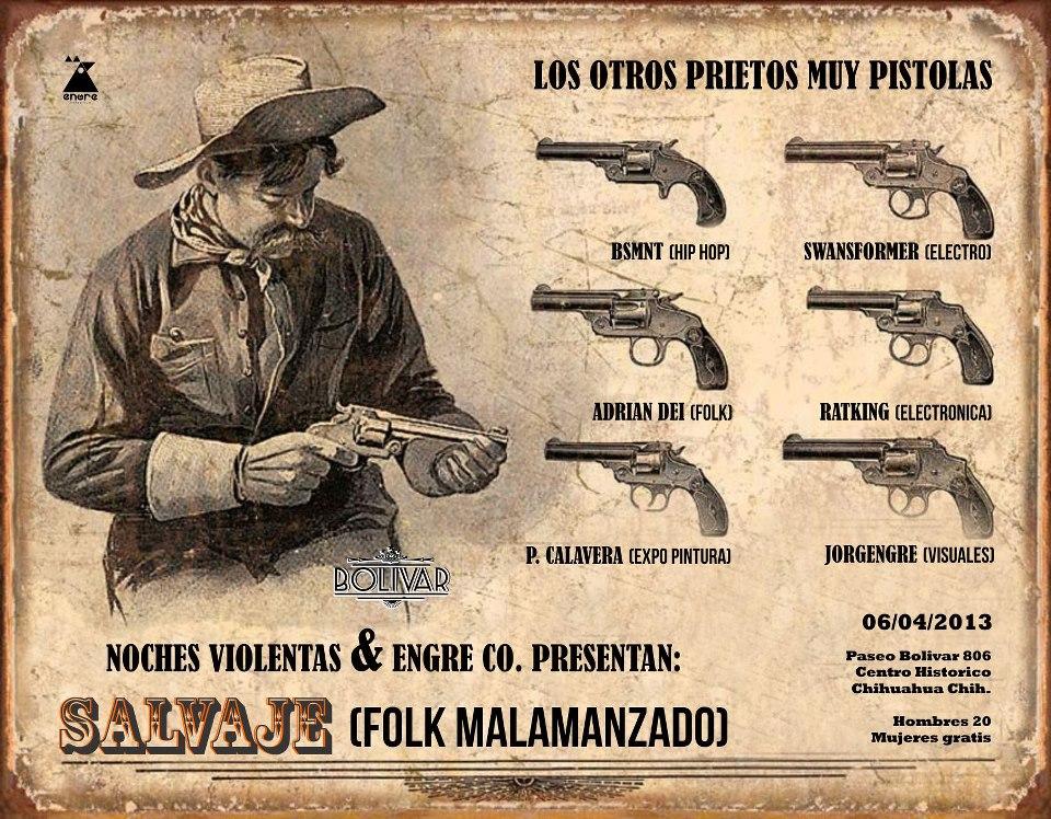 Salvaje este sábado 6 de abril @ Club Bolívar