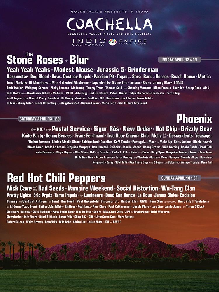 Póster oficial del Coachella 2013
