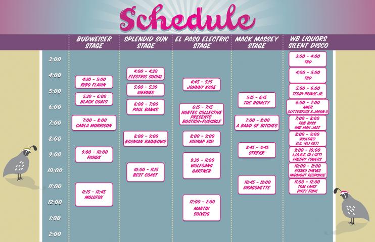 Horarios del Neon Desert Music Festival 2013