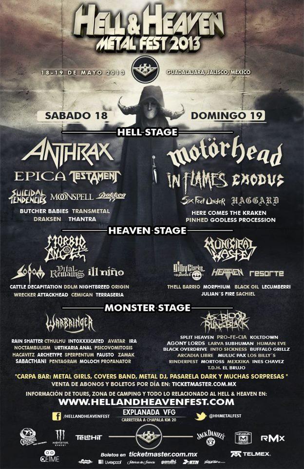 Hell & Heaven Metal Fest 2013 en Guadalajara