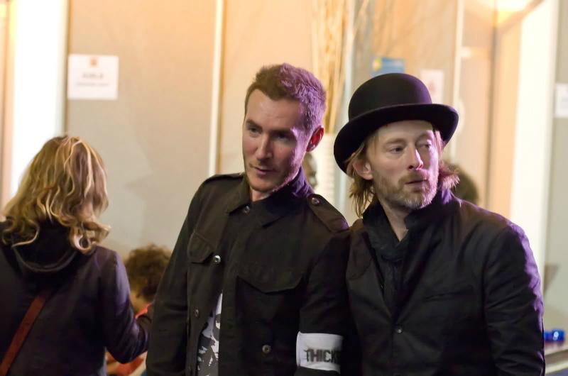 Robert Del Naja y Thom Yorke