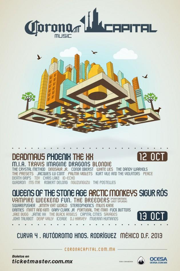 Cartel oficial del Corona Capital 2013