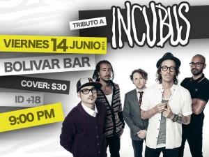 Tributo a Incubus este viernes 14 de junio @ Club Bolívar