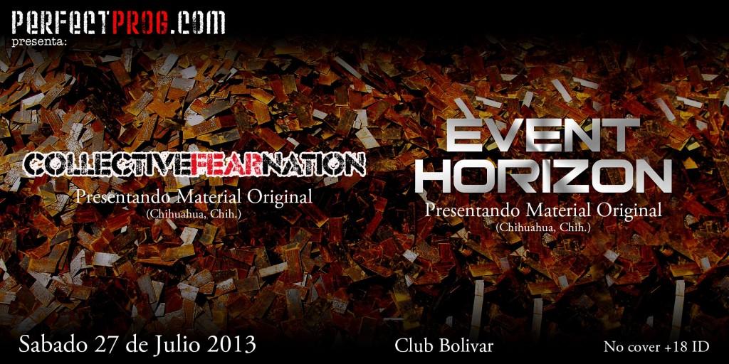 Collective Fear Nation y Event Horizon este sábado 27 de julio @ Club Bolívar