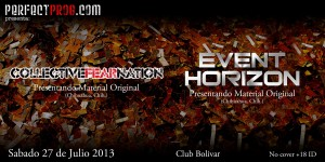 Collective Fear Nation y Event Horizon este sábado 27 de julio @ Club Bolívar