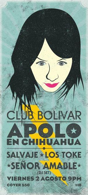 Apolo en Chihuahua este viernes 2 de agosto @ Club Bolívar