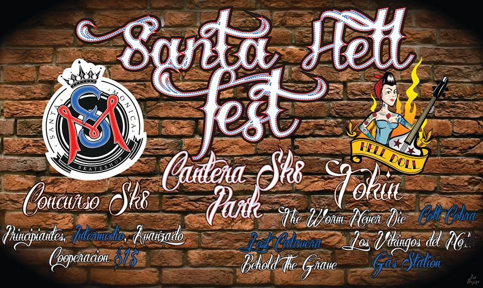 """Santa Hell Fest este viernes 12 de julio @ Parque Extremo """"La Cantera"""""""