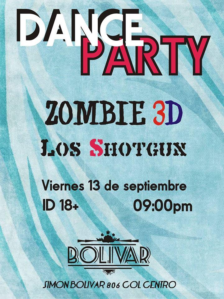 Dance Party este viernes 13 de septiembre @ Club Bolívar