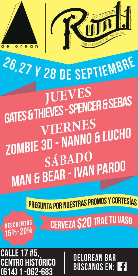 Gates & Thieves este jueves 26 de septiembre @ Delorean (Ruta 1.1)