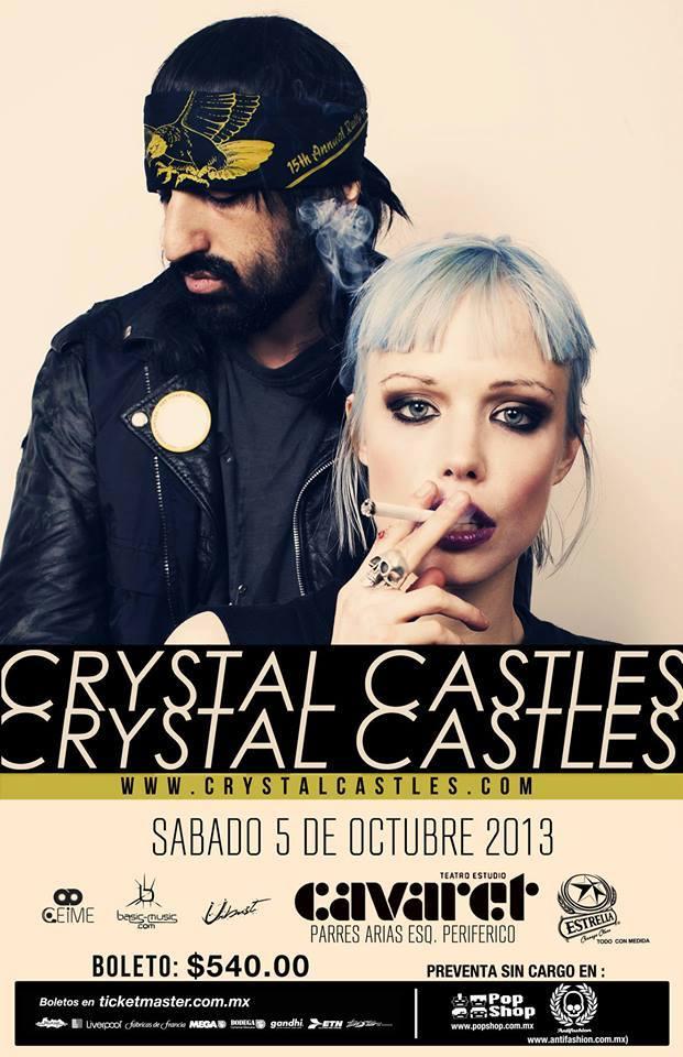 Crystal Castles este sábado 5 de octubre @ Teatro Cavaret (Guadalajara, Jal.)