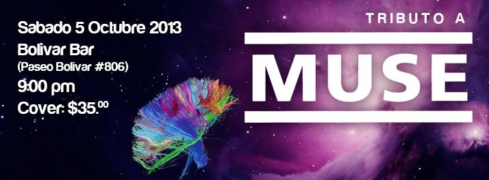 Tributo a Muse este sábado 5 de octubre @ Club Bolívar