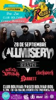All Misery, Destroying The Shapes y más este sábado 28 de septiembre @ Club Bolívar (Ruta 1.1)