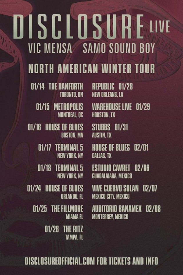 DISCLOSURE-NORTH-AMERICA-TOUR