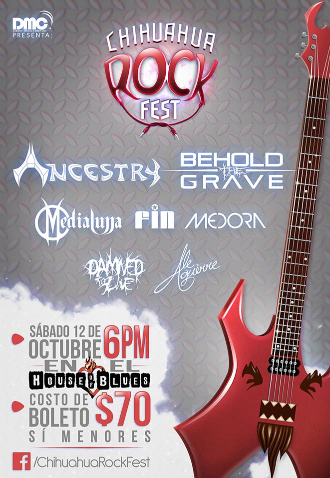 Chihuahua Rock Fest este sábado 12 de octubre @ House of Blues