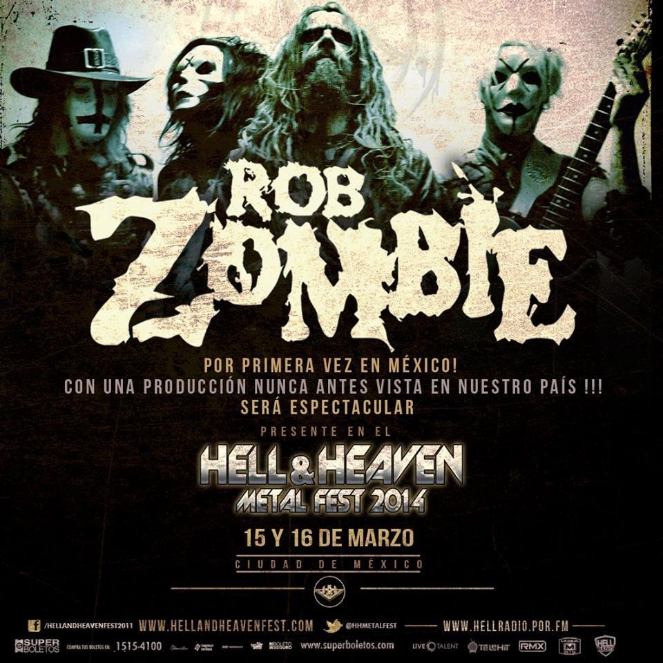 Se anuncia a Rob Zombie como headliner del Hell & Heaven Metal Fest 2014