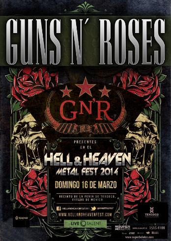 Guns N' Roses en el Hell & Heaven Metal Fest 2014
