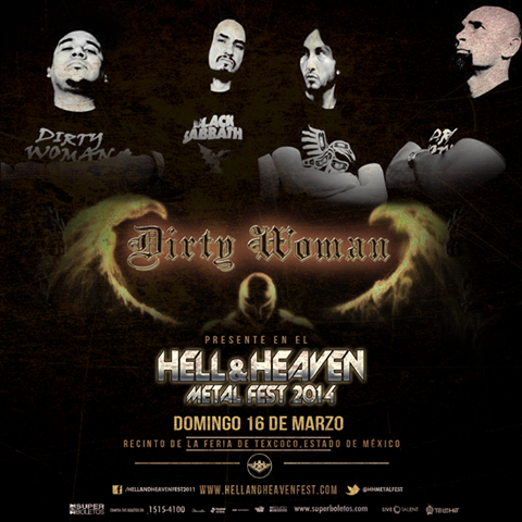 Dirty Woman en el Hell & Heaven Metal Fest 2014