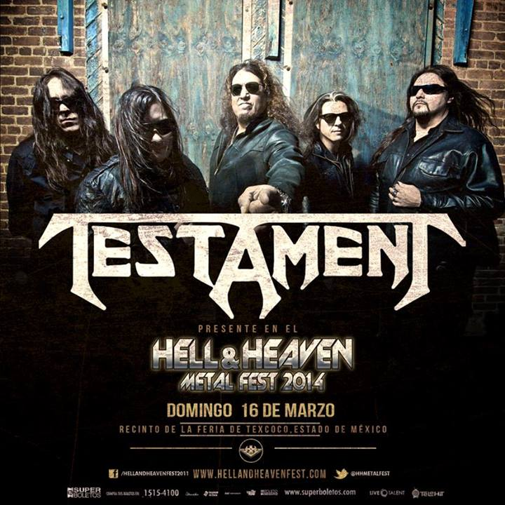Testament en el Hell & Heaven Metal Fest 2014