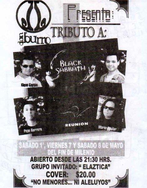 Flyer del Don Burro del pasado