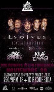 """Flyer de la próxima fecha del """"Revelations Tour"""" en Chihuahua (haz clic para agrandar)"""