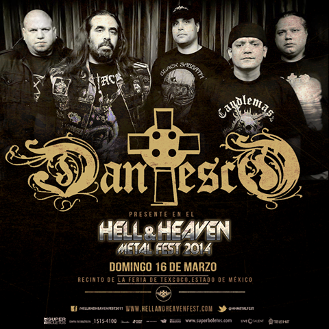 Dantesco en el Hell & Heaven Metal Fest 2014