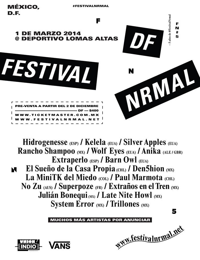 Festival Nrmal 2014 en México, DF.